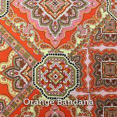 """Orange Bandana Print 20x20"""" Pillow Case by SelemeHealth"""