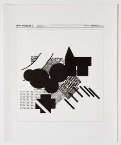Kleinplakat Typografie    1974: Collage 1 (Originaltitel)  1974-1975, Wolfgang…