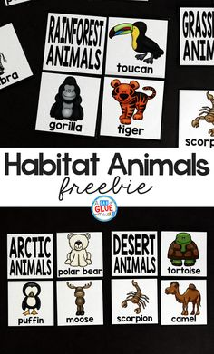 Make learning about animals and their habitats fun and exciting with this free printable pack! :: www.thriftyhomeschoolers.com