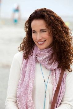 Andie in pretty scarf as Olive in Cedar Cove