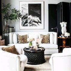 Modern living room on black and white | Décoration de la maison