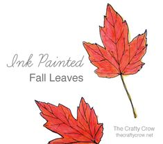 The Crafty Crow ink painted fall leaves button v2