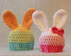 Starburst Bunny Hat - Pastel Colored Easter Bunny Hat.