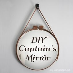 Make your own Captain's mirror with craft store supplies | Ceci Bean