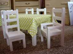 18 Doll Table And Chairs Buy Office 20 Best For Laeny Images Numeracy Learning Math Class Items Similar To Dining Set American Girl Dolls Or Inch On Etsy