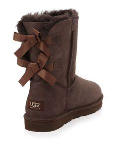 UGG Australia Bailey Bow-Back Short Boot, Chocolate