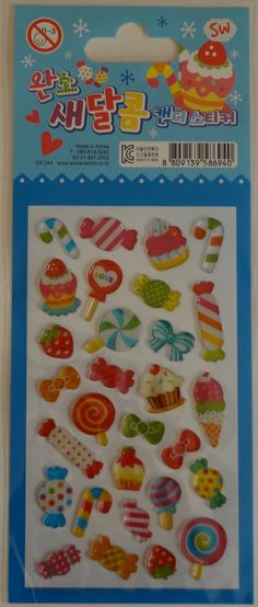 Kawaii 3D Sweets Sticker Sheet