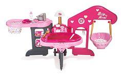 Smoby – 220318 – Baby Nurse Maison des Bébés: 3 pièces différentes pour de longues heures de jeux avec ton bébé ! Livrée avec 13…