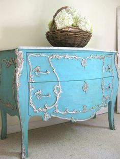 painted louis xv commode - Google Search