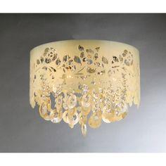 Golden Crystal Chandelier - Overstock™ Shopping - Great Deals on Warehouse of Tiffany Chandeliers & Pendants $116