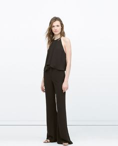 Image 1 of LOOSE FLARED TROUSERS from Zara