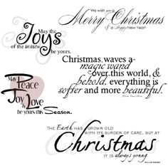 Christmas Sentiments · Christmas Sayings And QuotesCard ...