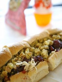 the BEST sandwich ever- Capriotti's Bobbie (turkey, cranberry sauce, stuffing and mayo) mmm and the Capistrami.. warm, yummy goodness.  What a great dinner!!