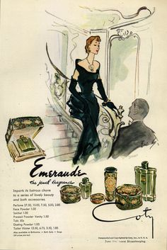 Emeralds Fragrance Ad #graphicdesign #vintage #ads