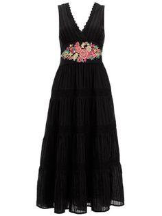 Vivi Dress -- Chic embroidered midi dress