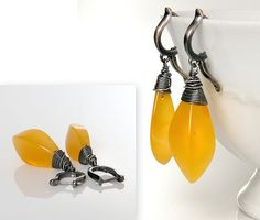 Amber Earrings butterscotch Amber Beads Natural Amber by AnnaBujak