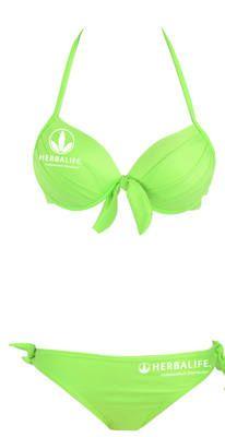 Bikini with Herbalife Logo zebraprint.co.uk