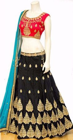 Shop latest Black Lehenga Designs for women from a wide range of Black Color Lehengas at Mirraw Online Store at best prices with worldwide fast shipping Black Lehenga, Lehenga Online, Lehenga Designs, Designer Lehanga, High Waisted Skirt, Mini Skirts, Chiffon, Two Piece Skirt Set, Sabyasachi