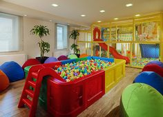 Children Playroom Ideas Indoor Playground Ball Pits New Ideas Daycare Design, Playroom Design, Kids Room Design, Playroom Ideas, Modern Playroom, Indoor Playroom, Toddler Playroom, Children Playroom, Kids Play Spaces
