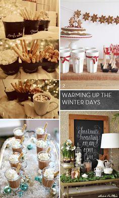 Hot Chocolate Bar for a Winter Wedding