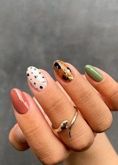 Cute Gel Nails, Cute Acrylic Nails, Shellac Nail Art, Minimalist Nail Art, Stylish Nails, Trendy Nails, Nail Art Vintage, Anker Tattoo Frau, Cute Nails For Fall