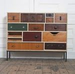 "This piece give new meaning to a Chest of Drawers!  "" I only use broken, discarded and odd drawers that no longer have a carcass therefore work can often sit unfinished for many months as I search for the elusive, perfect drawer to finish the design."" - Rupert Blanchard"