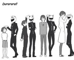 Celty and Shinra of Durarara!!