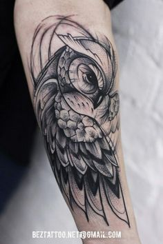 Tattoo for guys owl awesome 54 Ideas - - Leg Tattoos, Black Tattoos, Body Art Tattoos, Sleeve Tattoos, Tattos, Fish Tattoos, Owl Tattoo Drawings, Tattoo Sketches, Owl Tattoo Design