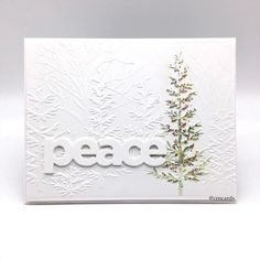 Embossed Christmas Cards, Christmas Card Crafts, Embossed Cards, Christmas Cards To Make, Xmas Cards, Holiday Cards, Greeting Cards, Christmas Tree, Christmas Projects