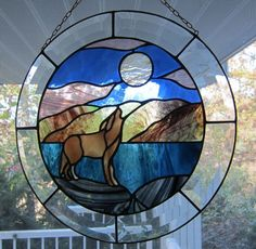 Wolf by Knapp Stained Glass
