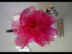 Linda Tiara com novo modelo de flor Passo a Passo - YouTube