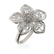 Sterling Silver Jewelry - Sterling Silver Vintage Filigree Flower Pendant