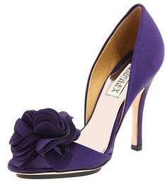 Badgely Mischka purple wedding shoes evening shoes www.finditforweddings.com