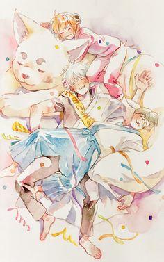 Manga Art, Anime Art, Gintama Funny, Gintama Wallpaper, Okikagu, Cute Family, Light Novel, What Is Like, Me Me Me Anime