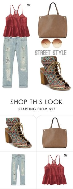 """""""Lace It Up"""" by tania-alves ❤ liked on Polyvore featuring mi.im, Street Level, Zara, Aéropostale, Linda Farrow and laceup"""