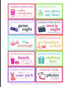 ideas for coupon book for girlfriend