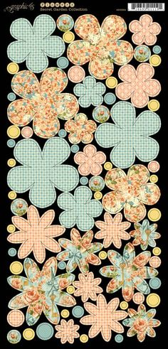 New Secret Garden cardstock flowers from Graphic 45! These are perfect to embellish any project! #graphic45 #C