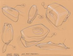 Concept Sketches - Linework- Multiple Ideas per page by Jeff Smith at Coroflot.com