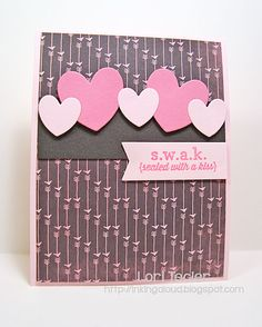 S.W.A.K. card-designed by Lori Tecler/Inking Aloud-stamps and dies from Reverse Confetti