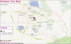 Map of Kadapa helps you to explore the Kadapa city in a better way and other information about Kadapa City. Map of Kadapa showing all the Locations, Major roads, railways, National highways, city boundaries and important landmarks on Kadapa Map
