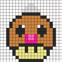 Weedle Mushroom Perler Bead Pattern | Bead Sprites | Characters Fuse Bead Patterns