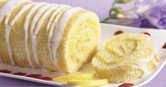 Suave rollo de limón con azúcar glas, el postre perfecto para cualquier ocasión