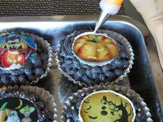 FotoPastel: Cupcakes de Halloween con papel de azúcar paso a paso