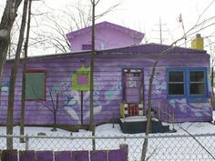 43rd and Howard Ave. Purple House