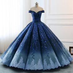 High Quality 2019 Modest Prom Dresses Ombre Royal Blue Wedding Evening Dress Gradient Blue Shade Sequin Women Formal Party Gown Bride Gown - - Source by Ball Gowns Evening, Ball Gowns Prom, Ball Gown Dresses, Party Gowns, 15 Dresses, Modest Dresses, Pretty Dresses, Beautiful Dresses, Prom Party