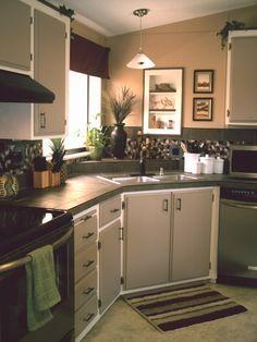 Budget Kitchen Makeover- Mobile Home  700 dollars DIY -wow inspiring