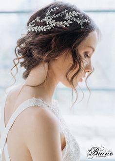 Wedding Headpiece, Pearl Hair Piece, Bridal Headpiece, Wedding Hairpiece, Crystals Hair Vine, Bridal Hairpiece, Wedding Halo, Wedding Wreath by BianoAccessories on Etsy https://www.etsy.com/listing/276986080/wedding-headpiece-pearl-hair-piece