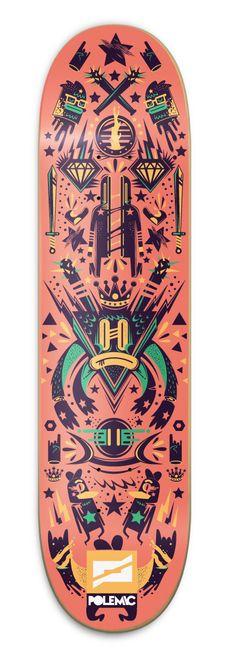 ~ fine stylin' Polemic Skate Decks ~   ~ by New Fren ~ via Behance  ~ !!