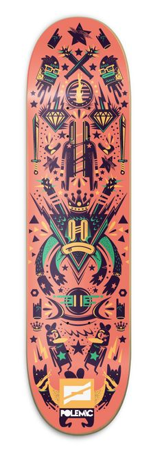Polemic Skate Decks by New Fren, via Behance