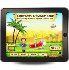 The Auditory Memory Ride app is a comprehensive and fun app for students aged six to 13 with central auditory processing disorder (CAPD) or other related disorders (e.g., receptive language disorder or autism).